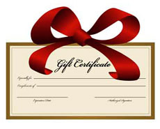 Gift Certificates for music lessons