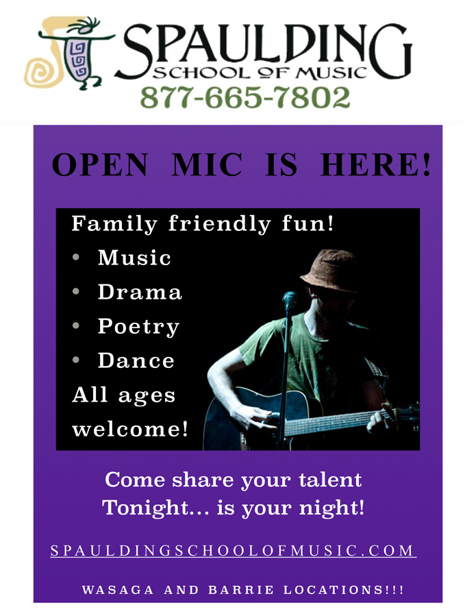 Open Mic in Barrie and Wasaga Beach