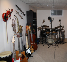 Barrie Music Studio Instruments